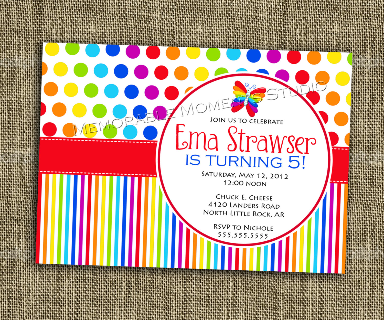 colorful birthday invitations ; cb039a7ba47b2e81f145544d366452bf