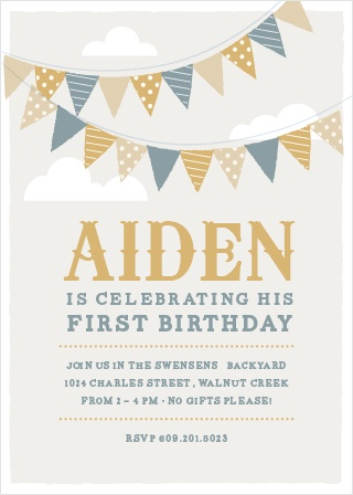 colorful birthday invitations ; festival-bunting-foil-first-birthday-invitations-l