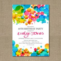 colorful birthday party invitations ; 4c3f3cd329aa5e123157229d3796af7d--bubble-birthday-parties-bubble-party