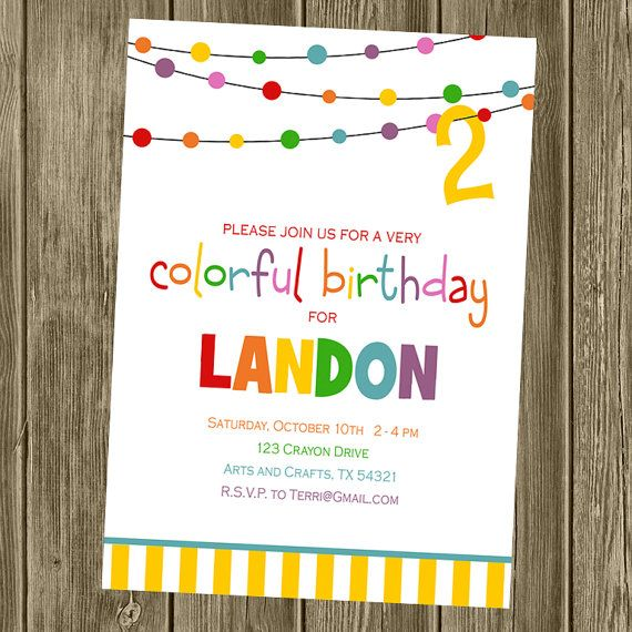 colorful birthday party invitations ; 6157780d97272f09a8ced266b408099c