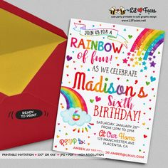 colorful birthday party invitations ; 6a08e62b6af961980cdfc6651d15e6bf--rainbow-birthday-invitations-rainbow-birthday-parties