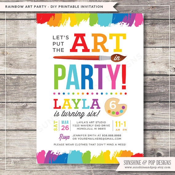 colorful birthday party invitations ; 7c7ee566e75809a9002235ba9a2b7fd9