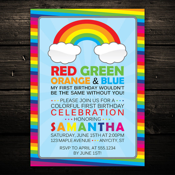 colorful birthday party invitations ; 88453188ee160fee60eff0c51bfab1e5