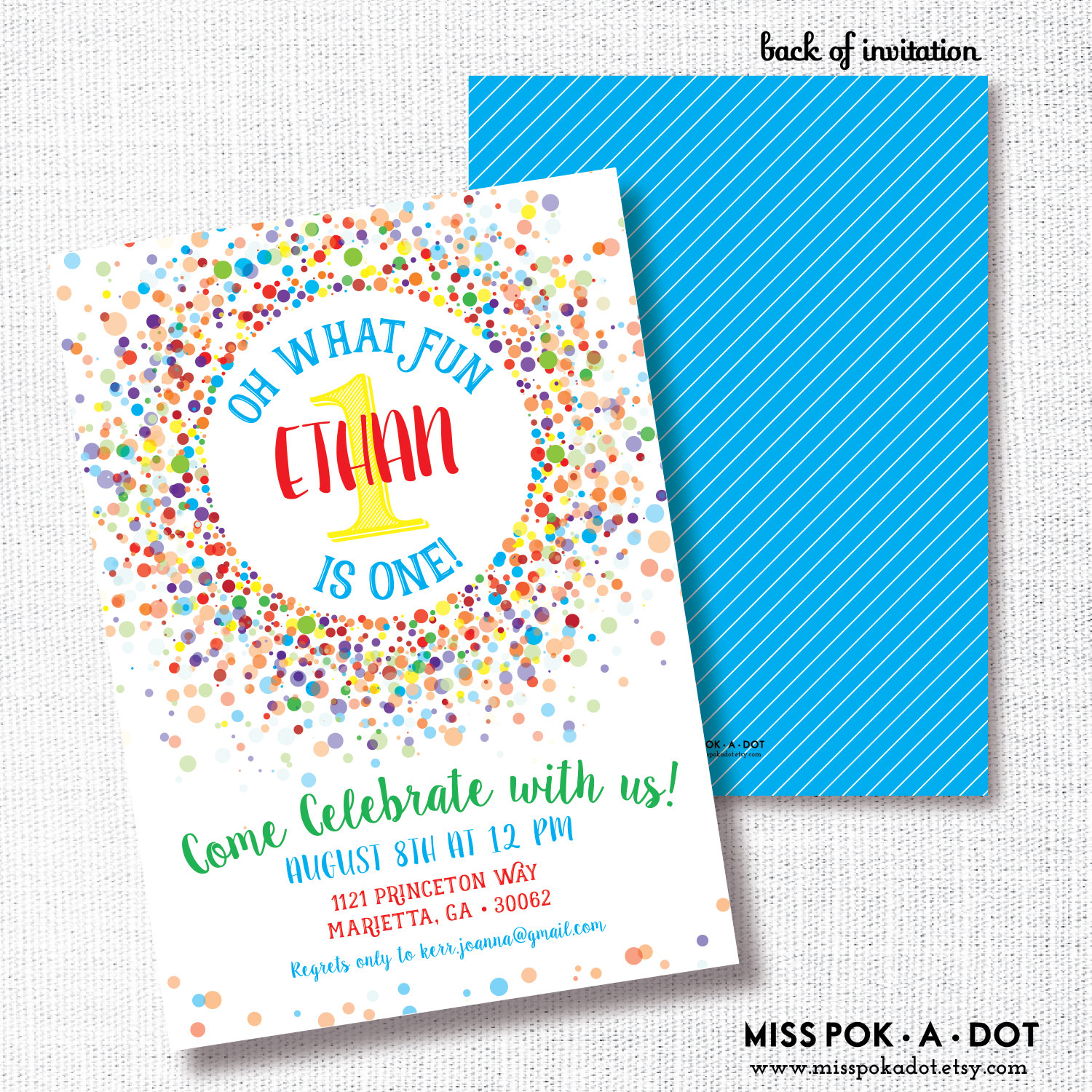 colorful birthday party invitations ; f08db8099d16c8d1b3e04cf8ef586e3a