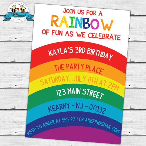 colorful birthday party invitations ; fbd6131ed35f1d69d2517127803eb679--rainbow-birthday-invitations-rainbow-birthday-parties