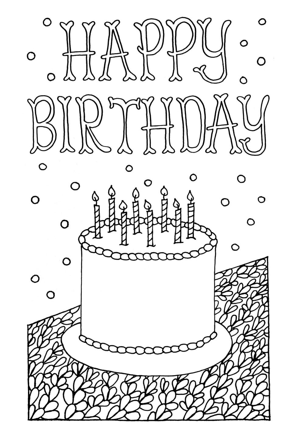 coloring birthday cards ; 1462201656962