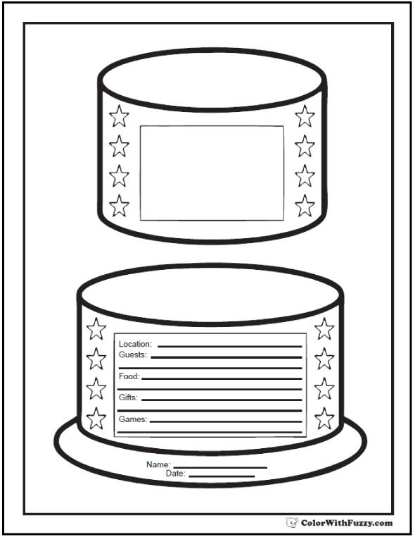 coloring birthday invitations ; birthday-party-invitation-coloring-page