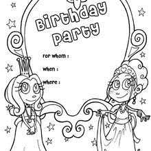 coloring birthday invitations ; princess-birthday-party-coloring-page_stf