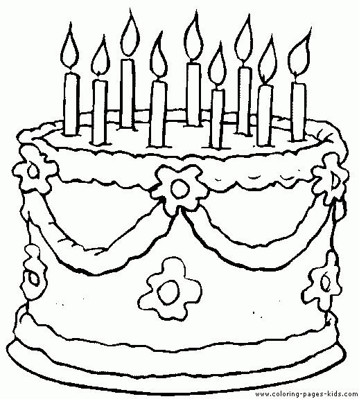 coloring book birthday cake ; Astonishing-Cake-Coloring-Page-75-With-Additional-Line-Drawings-with-Cake-Coloring-Page