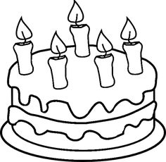 coloring book birthday cake ; drawn-cupcake-candle-template-20