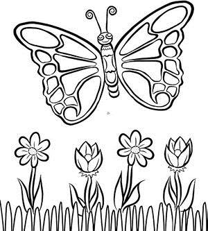 coloring pages for birthdays printables ; printable-painting-pages-550-printables-butterfly-final