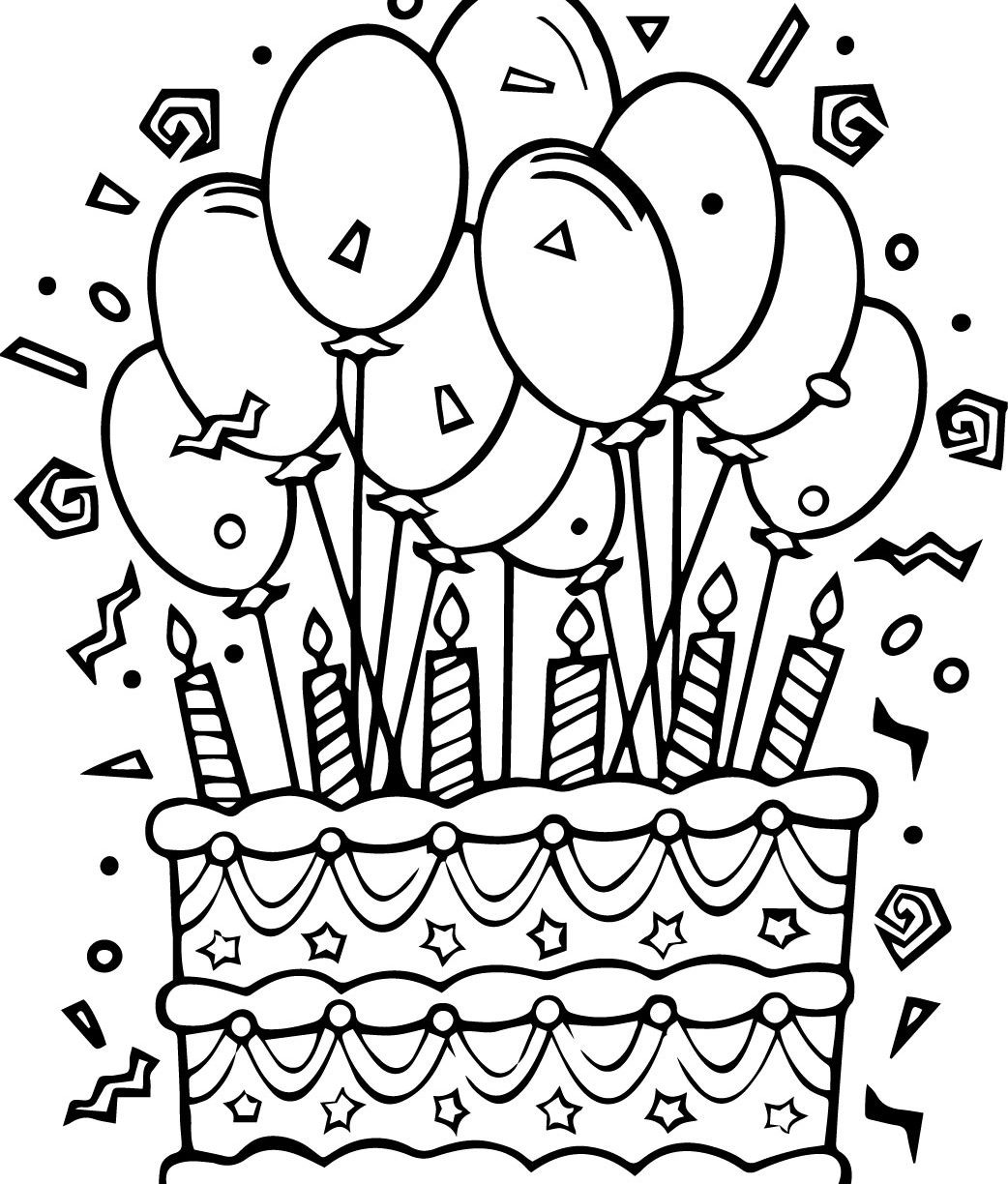 coloring pages for kids birthday cake ; birthday-cake-coloring-pages-1042x1224