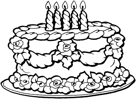 coloring pages for kids birthday cake ; f532fcfc4a6d045598467bd40d805c2b