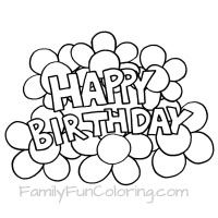 coloring sheets happy birthday ; happy-birthday-flowers-small