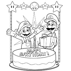 coloring sheets happy birthday ; happy-birthday-mario