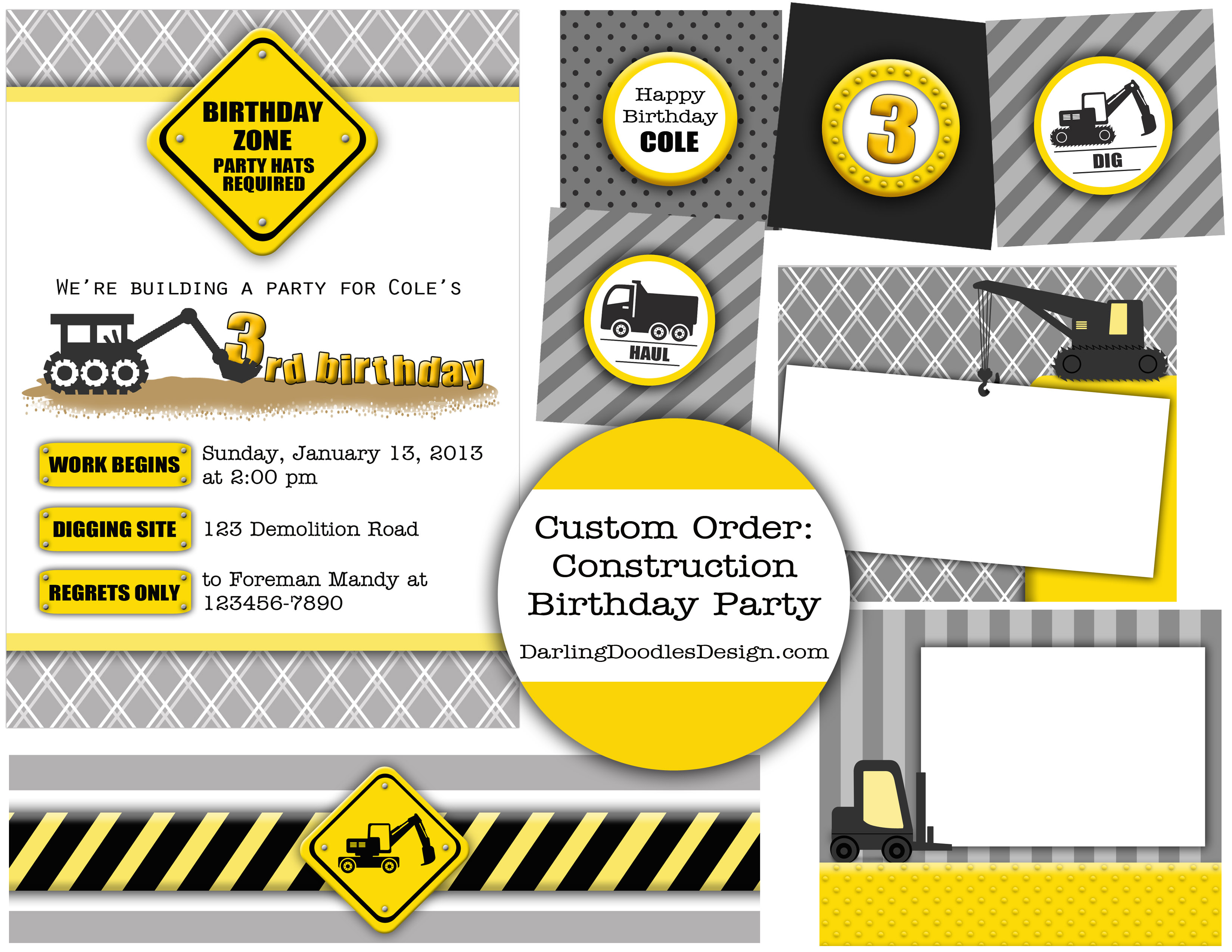 construction themed birthday party invitation templates ; Construction-Birthday-Party-Invitation-Templates-to-get-ideas-how-to-make-your-own-birthday-Invitation-design-18