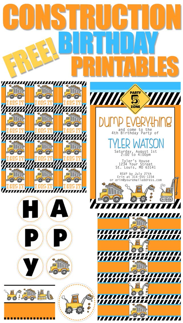 construction themed birthday party invitation templates ; FREE-CONSTRUCTION-BIRTHDAY-PRINTABLES