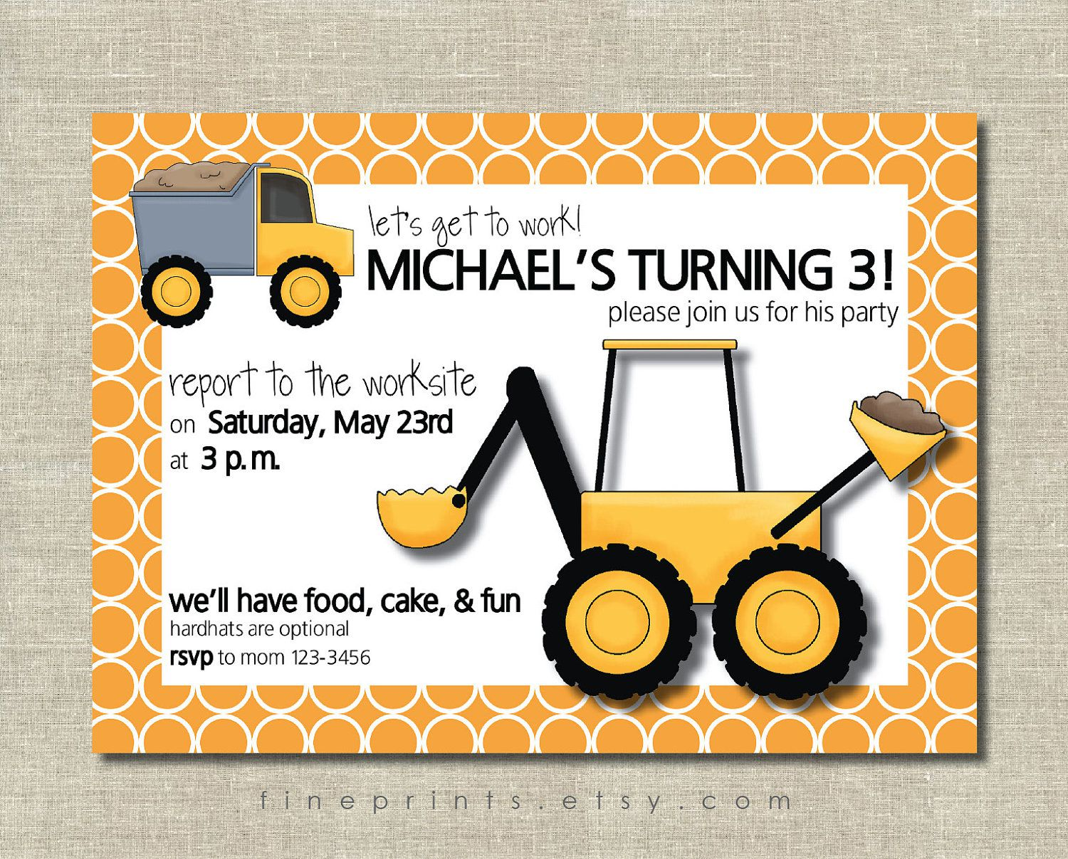 construction themed birthday party invitation templates ; free-construction-birthday-party-invitation-templates