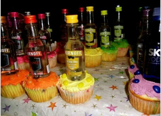 cool birthday activities ; 45639ac9a38a7d60fda84088ad5914ef--vodka-cupcakes-party-cupcakes