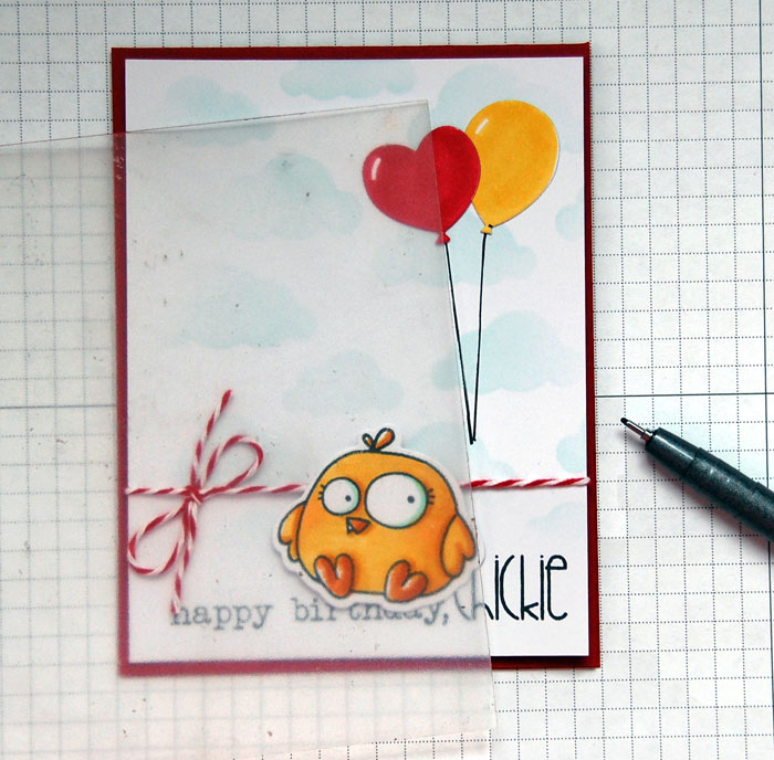 cool drawings for birthday cards ; Chick-Step-4-Draw-Balloon-Strings1
