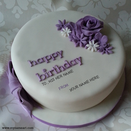 create a birthday cake with photo ; birthday-cake-with-his-her-name-1