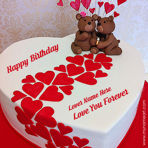 create a birthday cake with photo ; heart-birthday-cake-for-lover-demo
