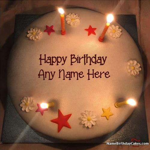 create a birthday cake with photo ; new-arrival-butter-candles-birthday-cake-for-friends-with-name-07b0
