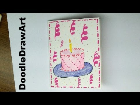 cute birthday card drawings ; how-to-draw-a-birthday-card-drawing-how-to-make-a-birthday-card-with-a-cake-on-it-easy-for