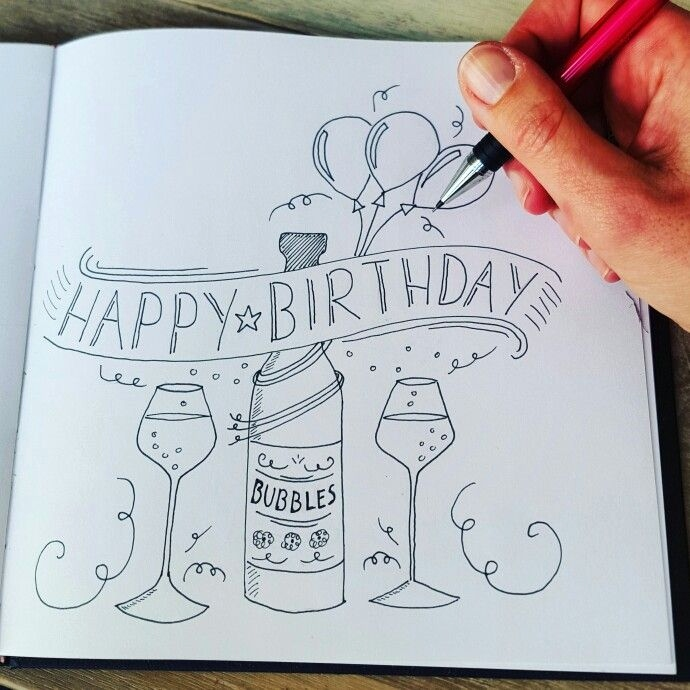 cute birthday card drawings ; how-to-draw-a-happy-birthday-card-elegant-bildergebnis-far-bubbles-handlettering-desene-2-of-how-to-draw-a-happy-birthday-card