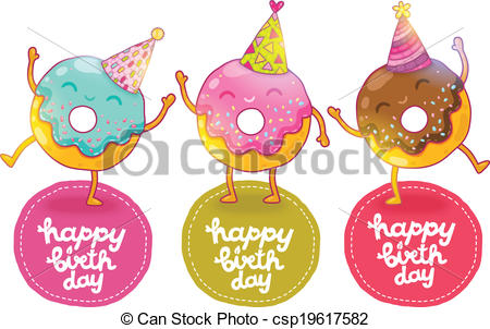 cute birthday drawings ; happy-birthday-card-background-with-cute-eps-vector_csp19617582