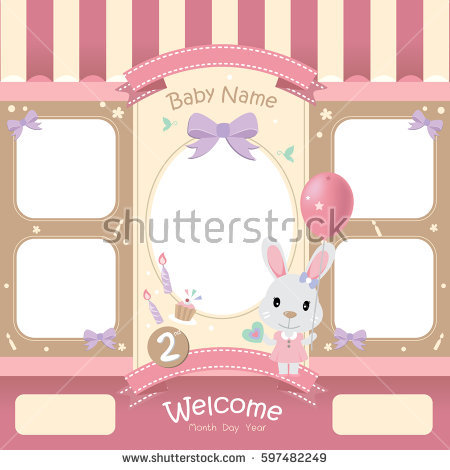 cute birthday photo frames ; stock-vector-vector-of-cute-picture-frame-set-happy-birthday-for-baby-cartoon-little-rabbit-holding-a-balloon-597482249