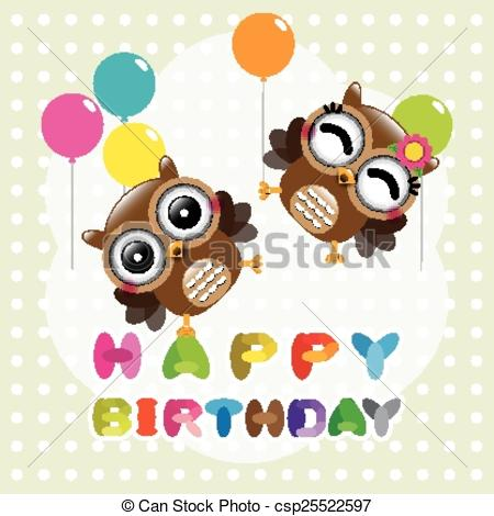 cute happy birthday drawings ; happy-birthday-card-with-cute-owls-drawing_csp25522597