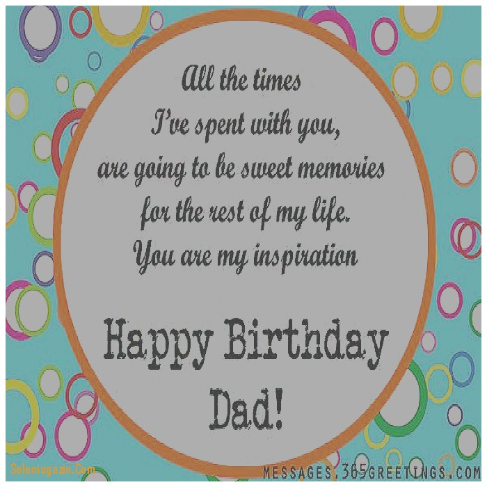 Dad Birthday Greeting Card Messages
