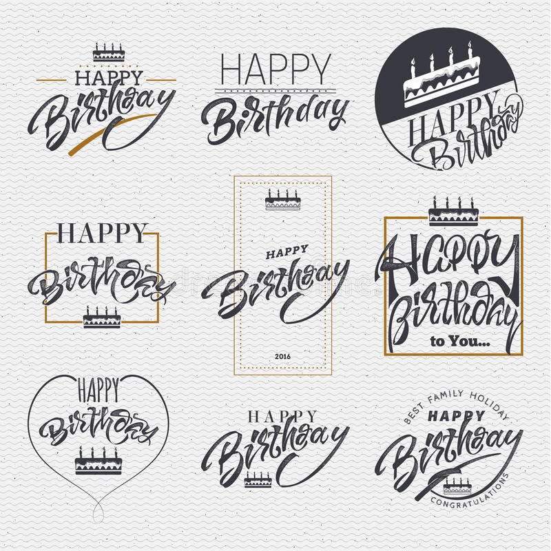 design sticker birthday ; happy-birthday-card-sticker-can-be-used-to-design-websites-clothes-insignia-made-help-lettering-calligraphy-73527815
