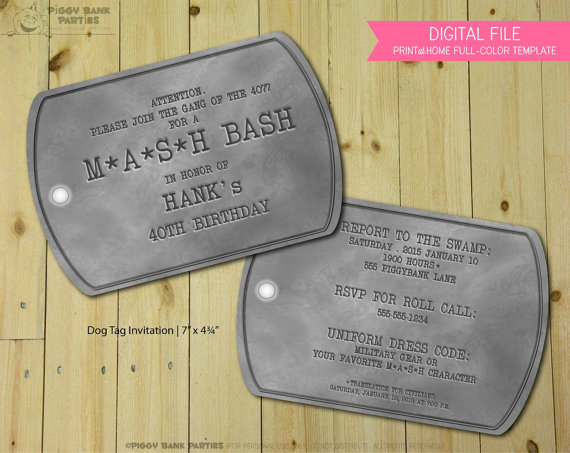 dog tag birthday invitations ; 34e9d521af509ec289c58bf0d17baa61
