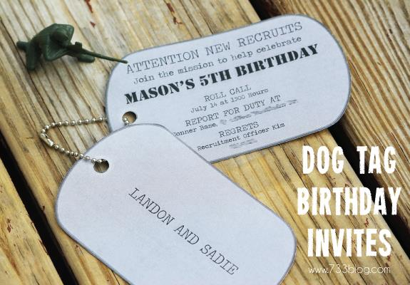 dog tag birthday invitations ; 3df2144850c5c480b826afa4304630d6