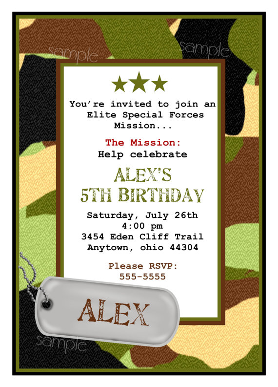 dog tag birthday invitations ; il_570xN