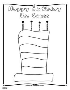 Dr Seuss Birthday Coloring Sheets Best Happy Birthday Wishes