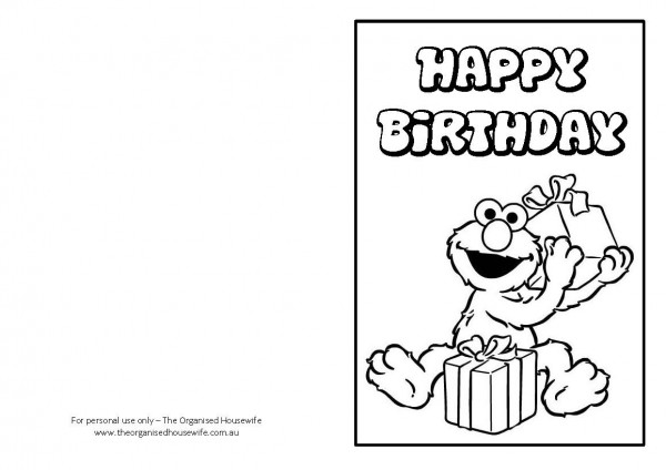 drawing birthday cards for kids ; iconic-cartoon-printable-birthday-cards-for-kids-character-drawing-mesmerizing-elmo-details-downloadable-page