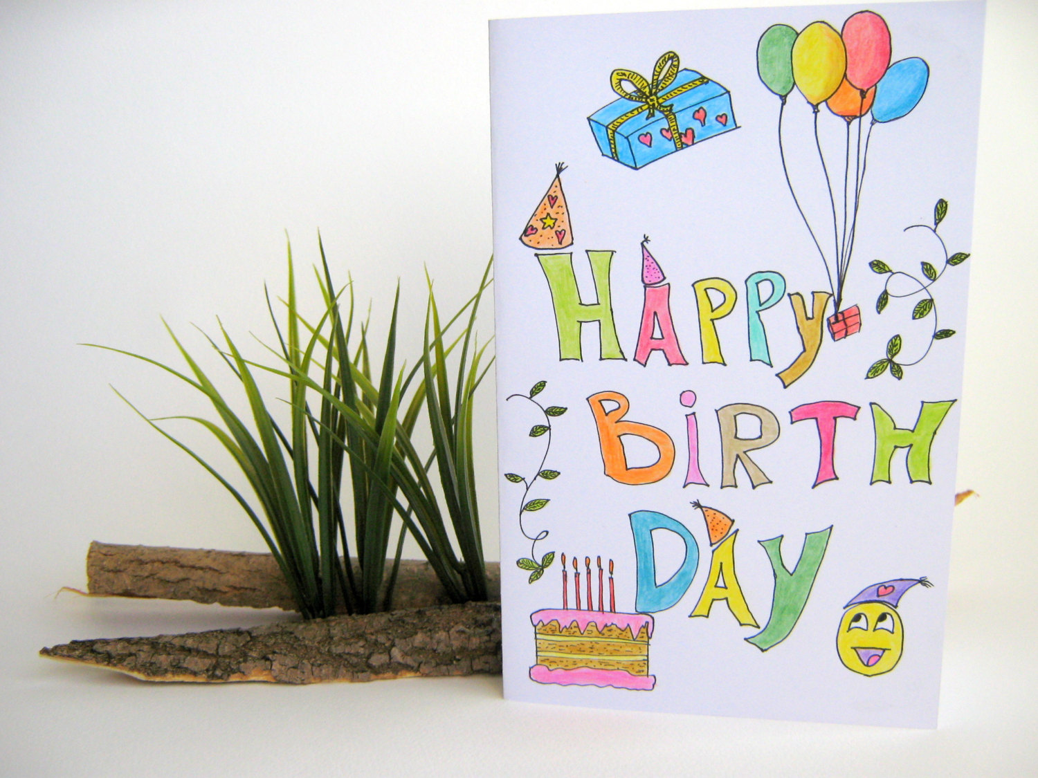 drawing birthday cards for kids ; il_fullxfull