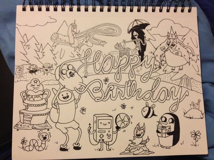 drawing for boyfriends birthday ; a262379a2ee493866a8248d1c0cd40cf--adventure-time-birthday-an-adventure