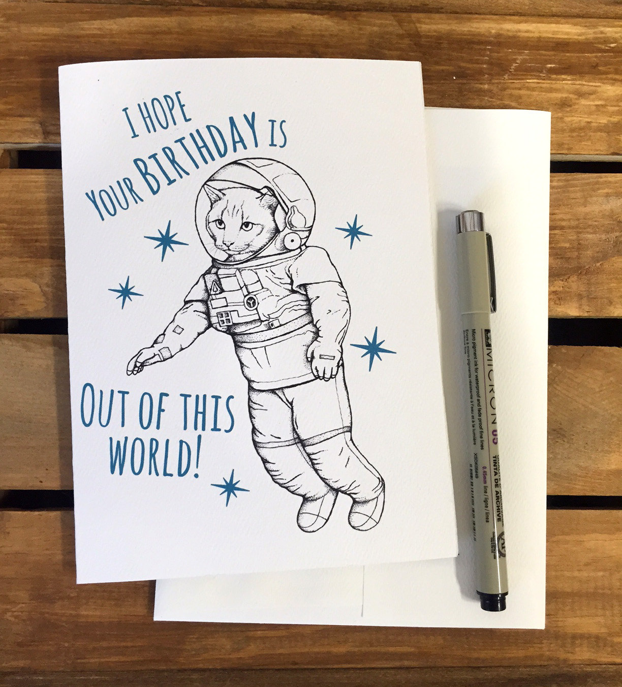 drawing ideas for a birthday card ; space-cat-birthday-card-funny-birthday-card-boyfriend-birthday-card-girlfriend-birthday-card-cute-design-unique-birthday-cards