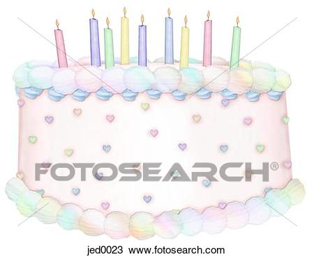 drawing of birthday ; birthday-cake-and-candles-drawing__jed0023