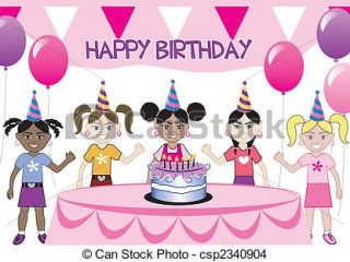 drawing of birthday celebration ; birthday-drawing-for-kids-kids-party-3-a-girls-birthday-party-with-cake-five-young-eps-shoes-pictures-to-color-320x240