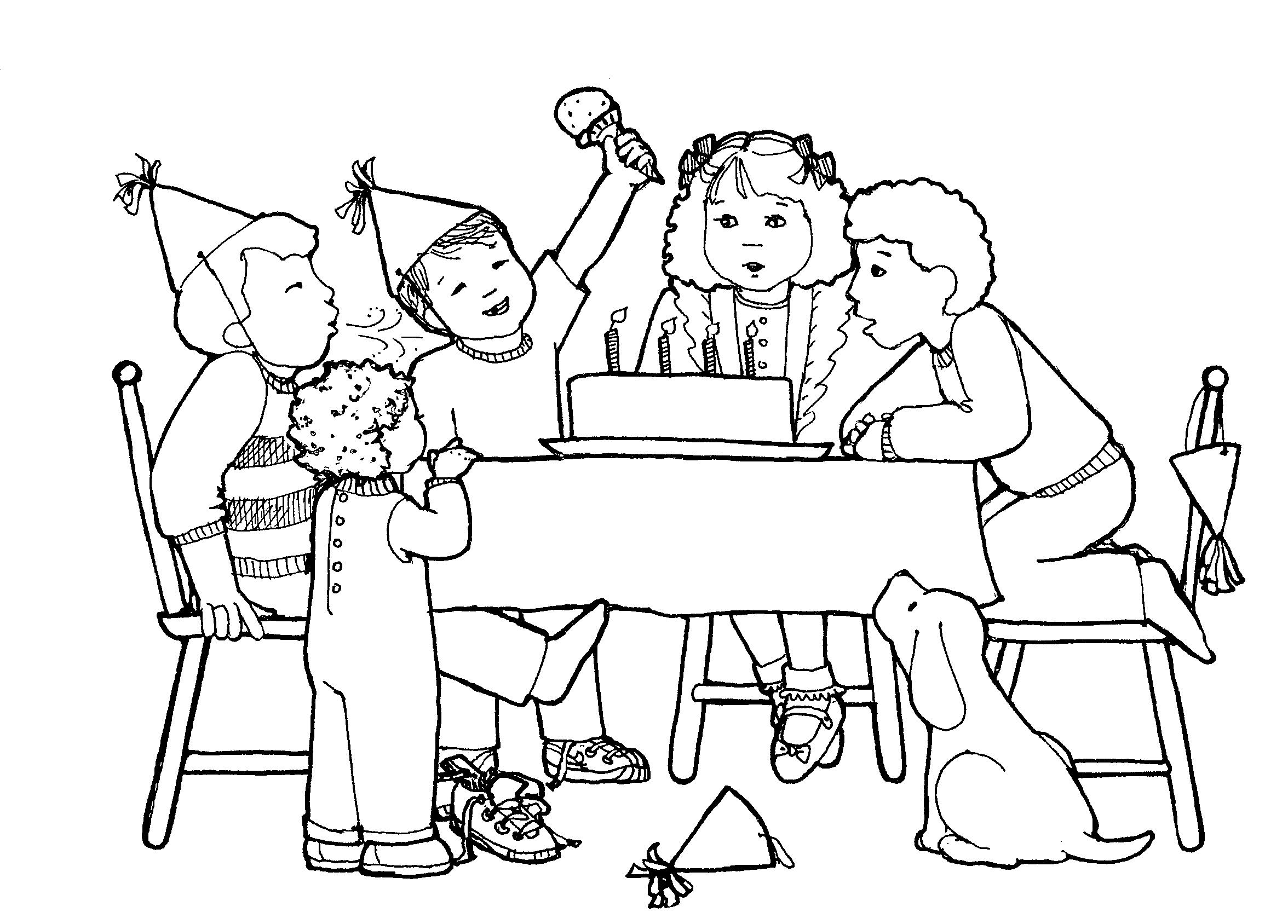 drawing of birthday celebration ; efe8c16f076a77d727c9790b92c7c17e_people-at-a-birthday-party-clipart-collection-happy-birthday-party-clipart_1300-1140