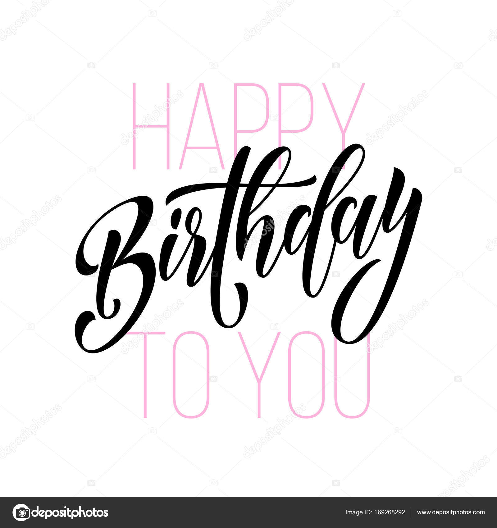 drawing of birthday greeting cards ; depositphotos_169268292-stock-illustration-happy-birthday-greeting-card-calligraphy