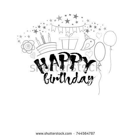 drawing of birthday greeting cards ; stock-vector-birthday-greeting-card-template-744564787