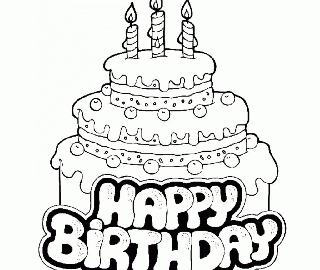 easy birthday cake drawing ; awesome-birthday-cake-coloring-page-in-print-1024x864