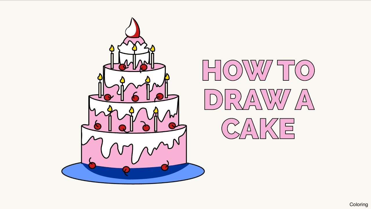 easy birthday cake drawing ; maxresdefault-how-to-draw-a-cake-coloring-in-few-easy-steps-drawing-tutorial-for-kids-and-beginners-13f