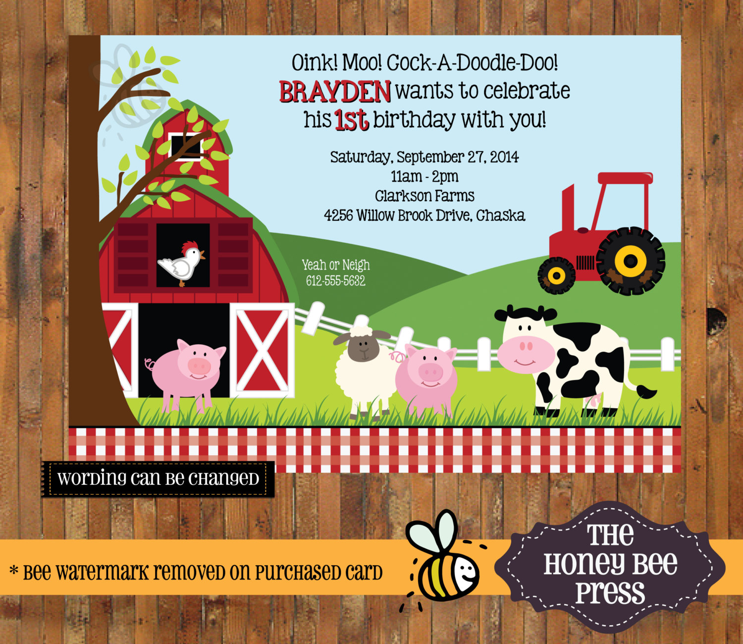 farm themed birthday invitation wording ; 1St-Birthday-Farm-Invitations-and-get-inspired-to-create-your-own-birthday-Invitation-design-with-this-ideas-1